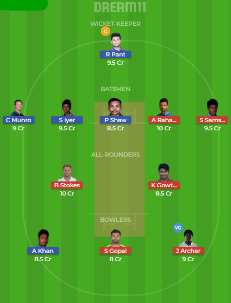 dd vs rr Dream11