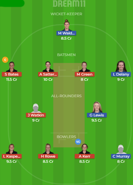 IR W v NZ W Dream11