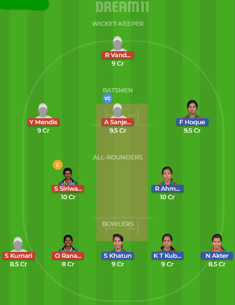 BD w vs SL w dream 11