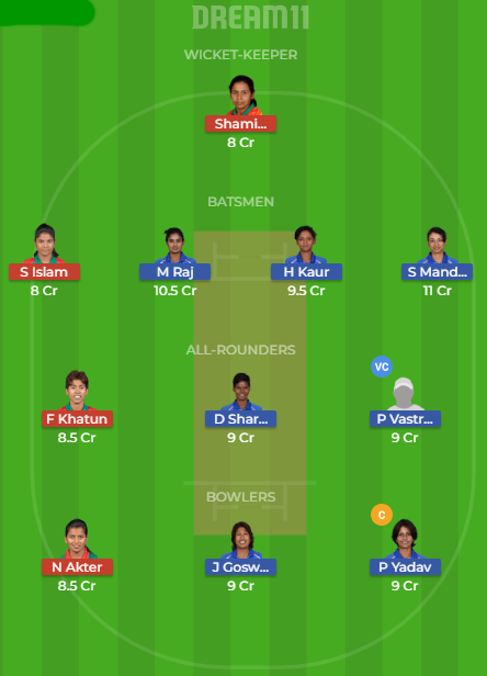 IN w V BAN W Dream 11