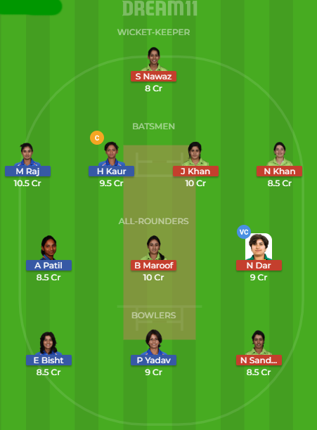 IN W v PK W Dream11