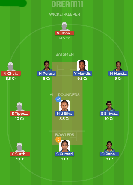 SL w vs TL w dream 11