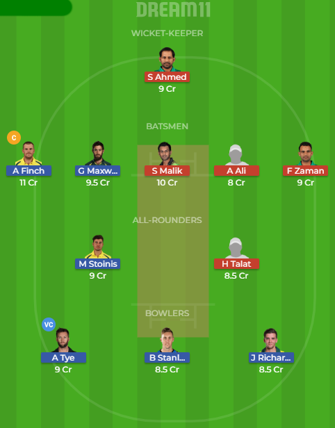 Aus vs Pak Dream11