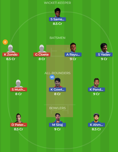 in-a vs sa-a dream11