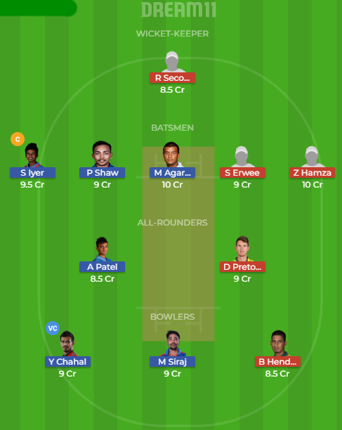 in a vs sa a dream11