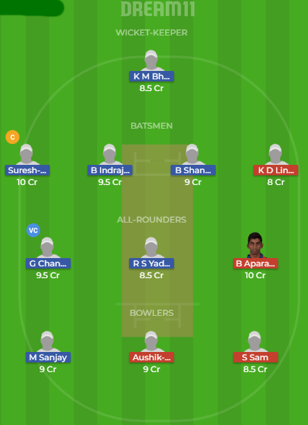rub vs vbk dream11