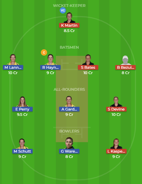 AU-W Vs NZ-W Dream11