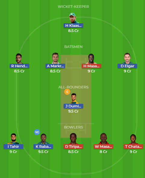Zim Vs Sa Dream11