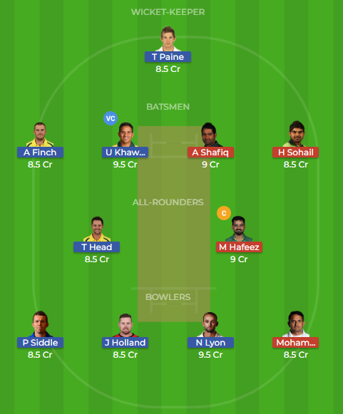 aus vs pak dream11, dream11, probable playing XI