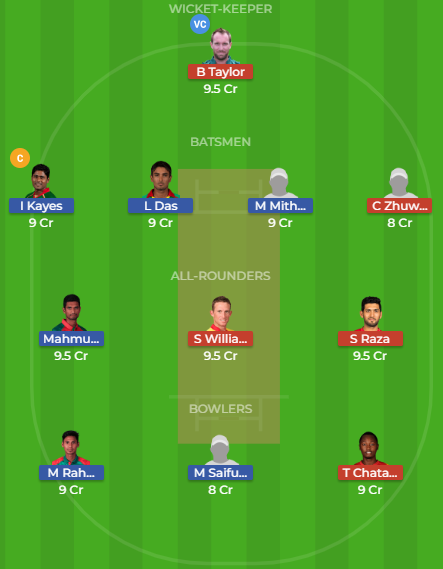ban vs zim dream11