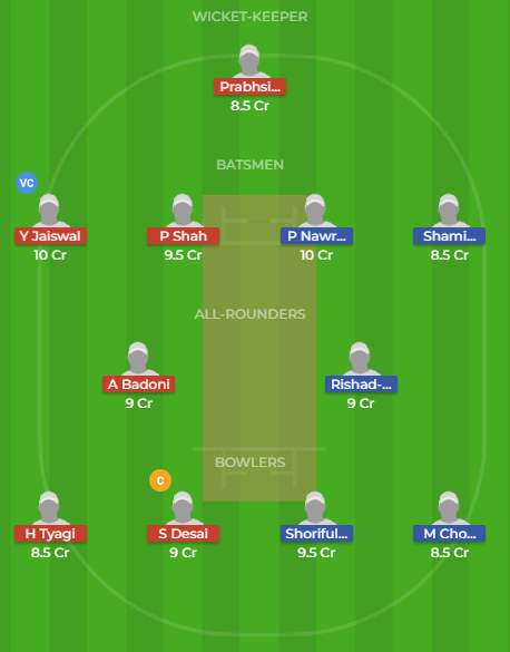 in-y vs bn-y dream11
