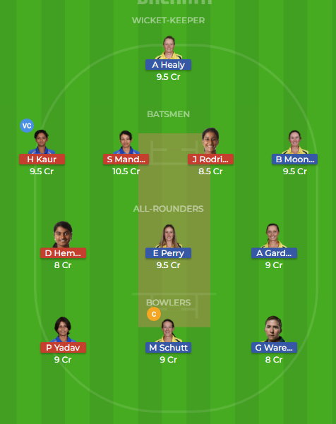 au w vs in w dream11