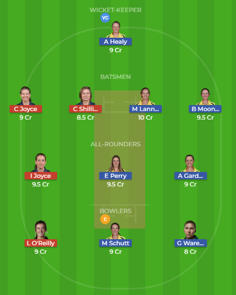 au w vs ir w dream11