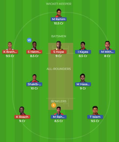 ban vs wi dream11