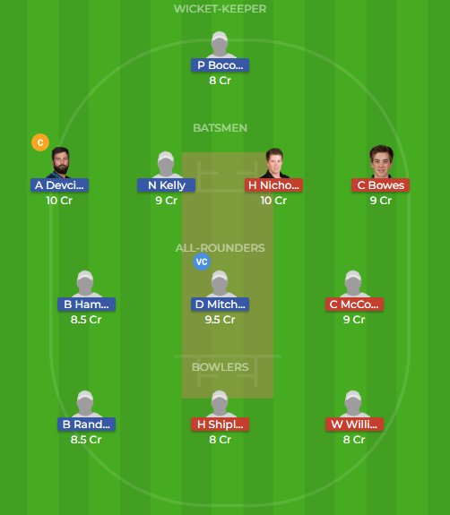ctb vs NK dream11