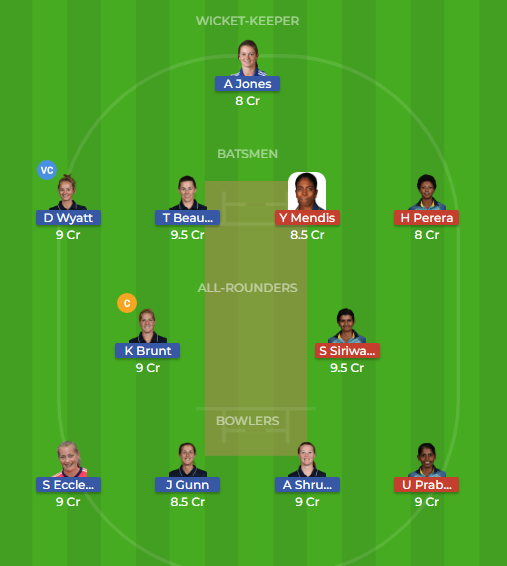 en w vs sl w t20 dream11