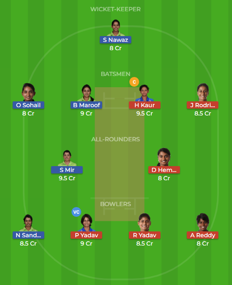 in w vs pk w t20 dream11