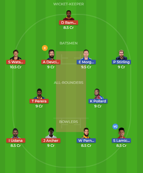 ker vs sin dream11