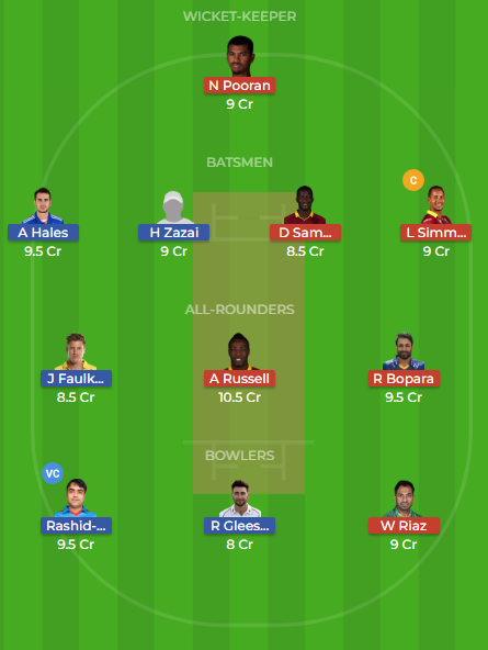 mar vs nor dream11