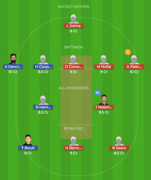nk vs wel dream11