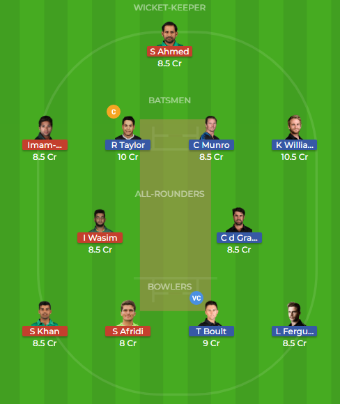 pak vs nz 2nd odi dream11
