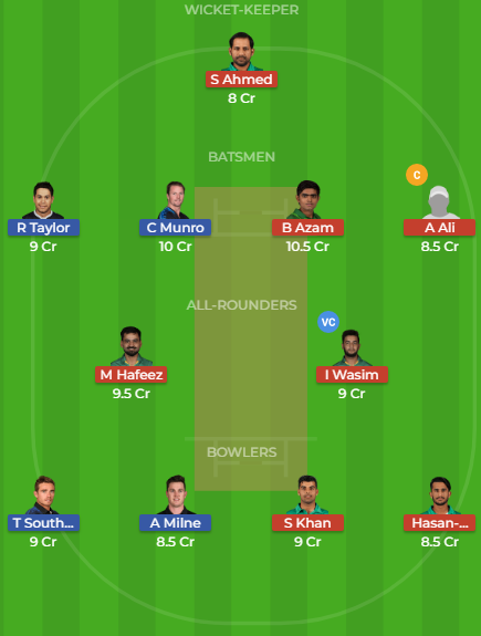 pak vs nz dream11