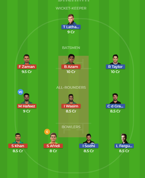 pak vs nz 3rd odi dream11