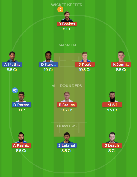 sl vs eng 3rd test dream11