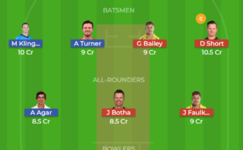 PS Vs HBH dream11