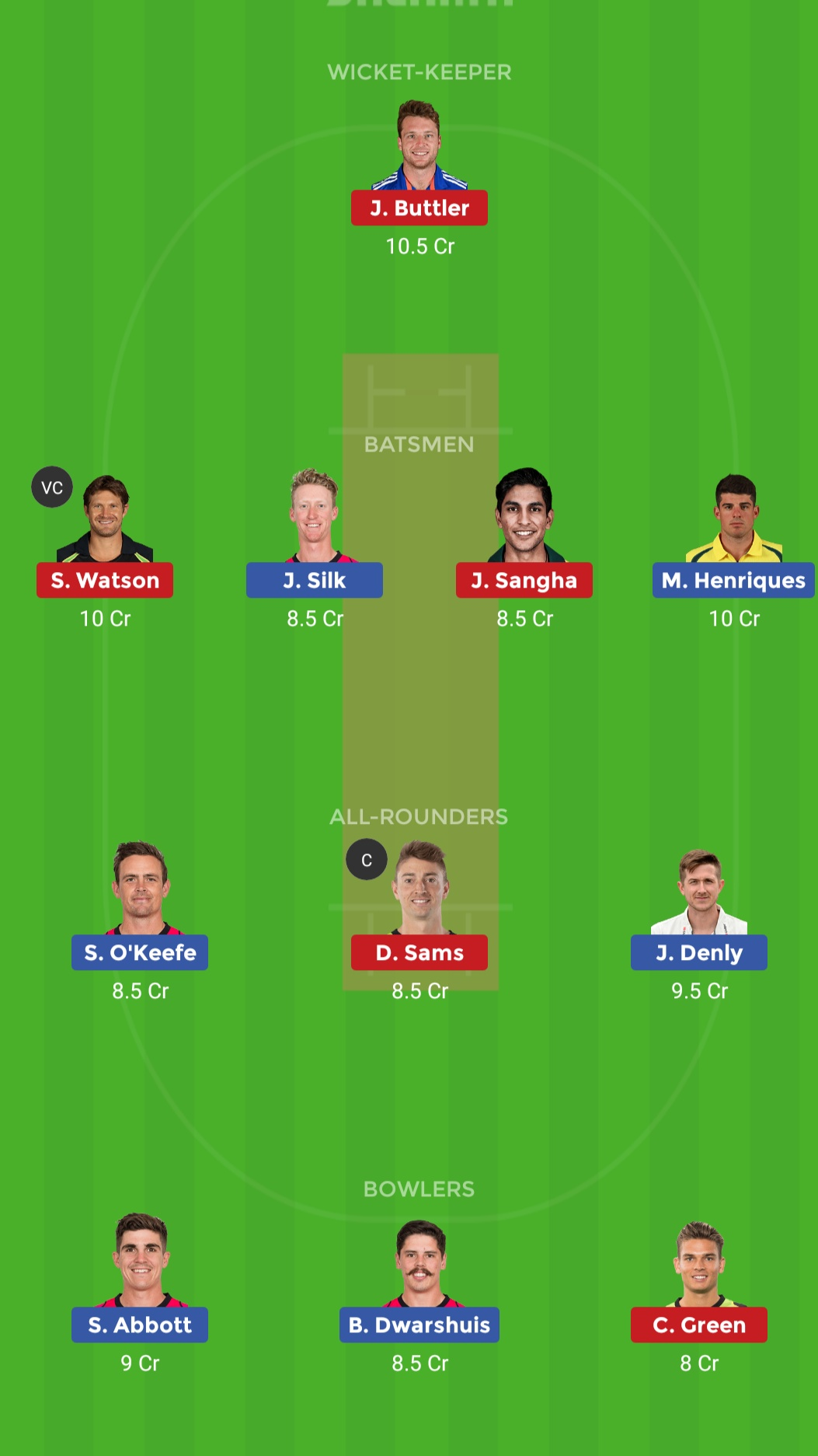 SDS VS SDT Dream11