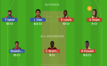 ban vs wi 1st t20 dream11