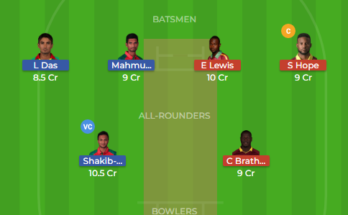 ban vs wi 2nd t20 dream11 team