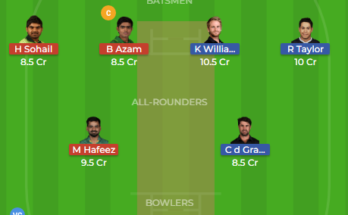 nz vs pak 3rd test dream11