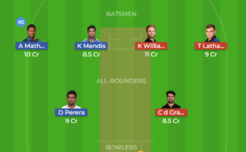 sl vs nz 2nd test dream11