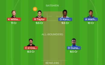 sl vs nz dream11