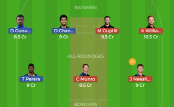 sl vs nz 1st odi dream11