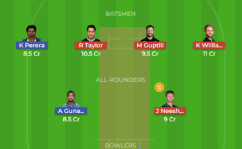sl vs nz 2nd odi dream11