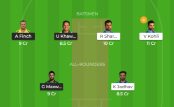 Ind vs aus 2nd odi dream11