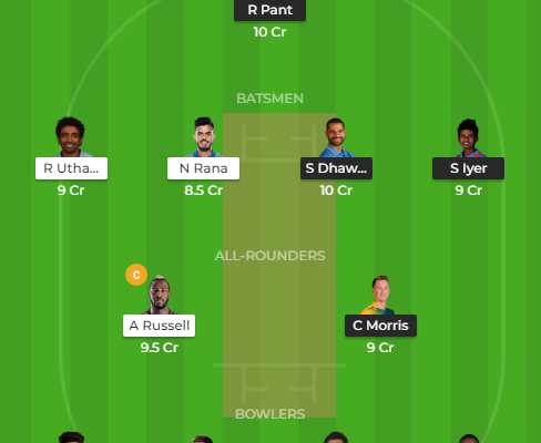 dc vs kkr dream11