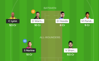 kkr vs srh dream11