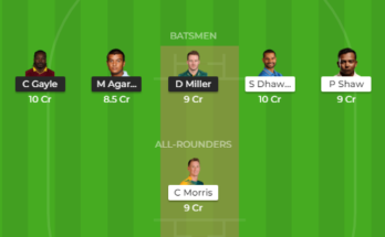 kxip vs dc dream11
