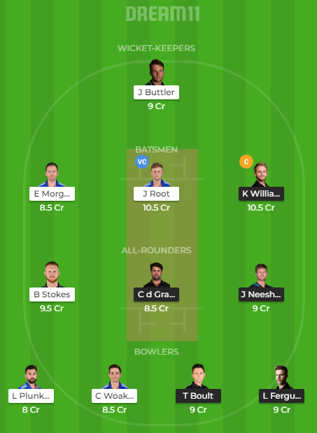 NZ vs ENG Dream11