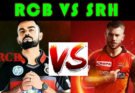 SRH VS RCB Dream11 Team Prediction IPL 2020