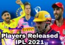Big Players released IPL AUCTION